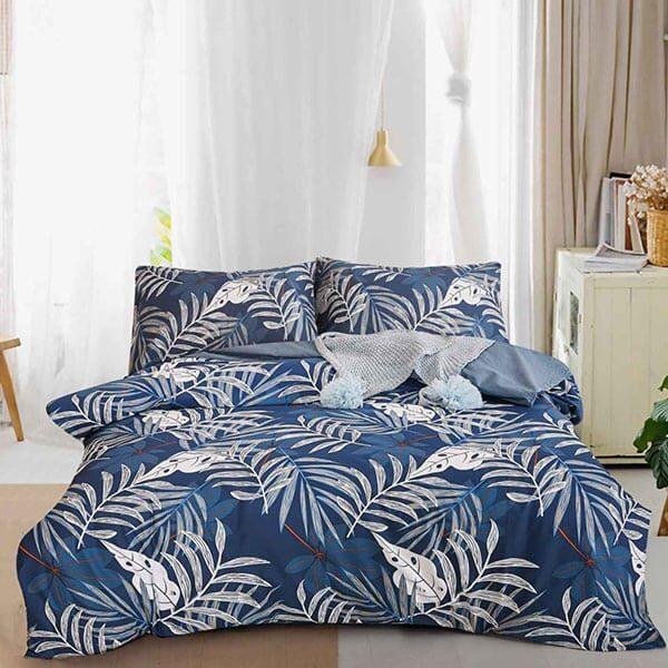 Bettwäsche Blau mit Blättermotiven 02 | Landanzeiger-Shopping