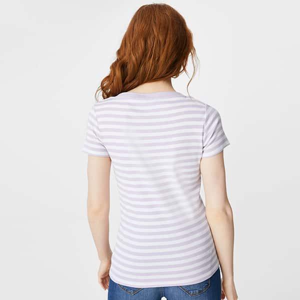 Basic T-Shirt gestreift Bio Baumwolle 02 |Landanzeiger-Shopping