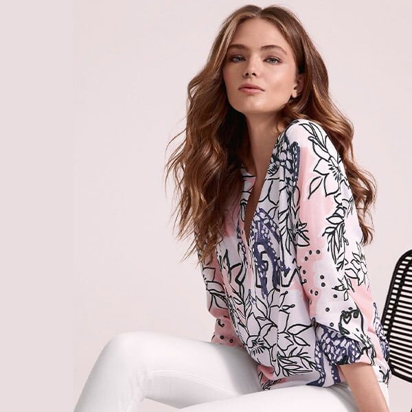 Faber Bluse weiss-rosa 01 Mode Moser | Landanzeiger-Shopping