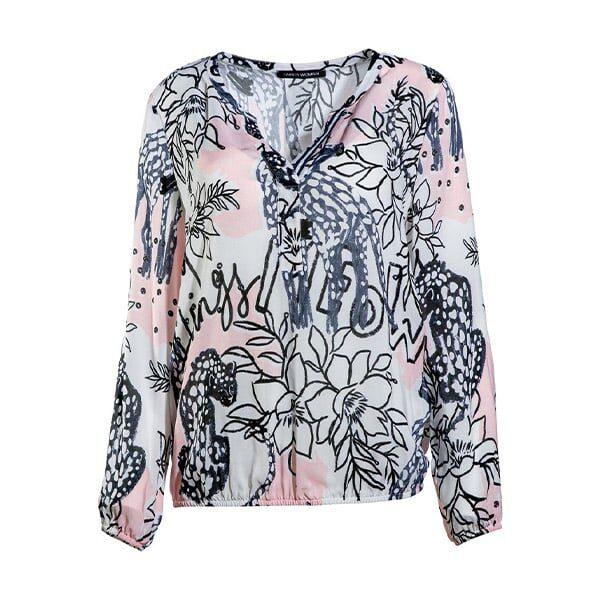 Faber Bluse weiss-rosa 02 Mode Moser | Landanzeiger-Shopping