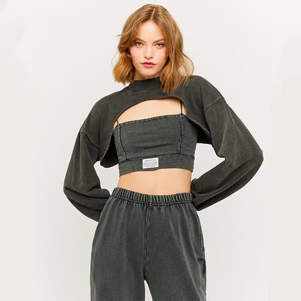 Sweatshirt kurz grau 01  Landanzeiger-Shopping
