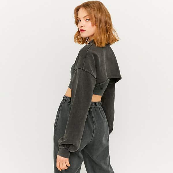 Sweatshirt kurz grau 02  Landanzeiger-Shopping