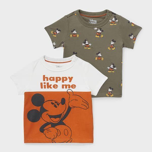 Multipack 2er Micky Maus Baby-Kurzarmshirt 01 |Landanzeiger-Shopping