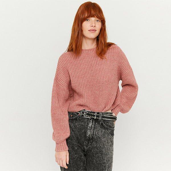 Pullover pink mit Puffärmeln 01 | Landanzeiger-Shopping