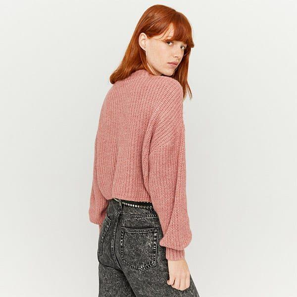 Pullover pink mit Puffärmeln 02 | Landanzeiger-Shopping