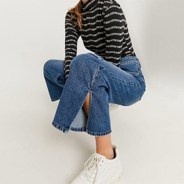 Skinny Jeans mit geteiltem Saum 01 | Landanzeiger-Shopping