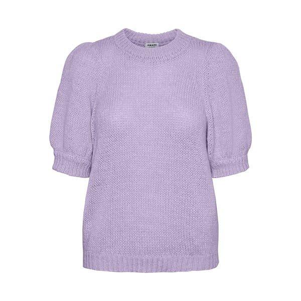 Strickpullover kurzärmelig lila Pastell 02 |Landanzeiger-Shopping