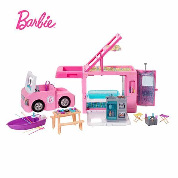 Barbie 3-in-1 Abenteuer Camper mit Zubehör 02 | Landanzeiger-Shopping