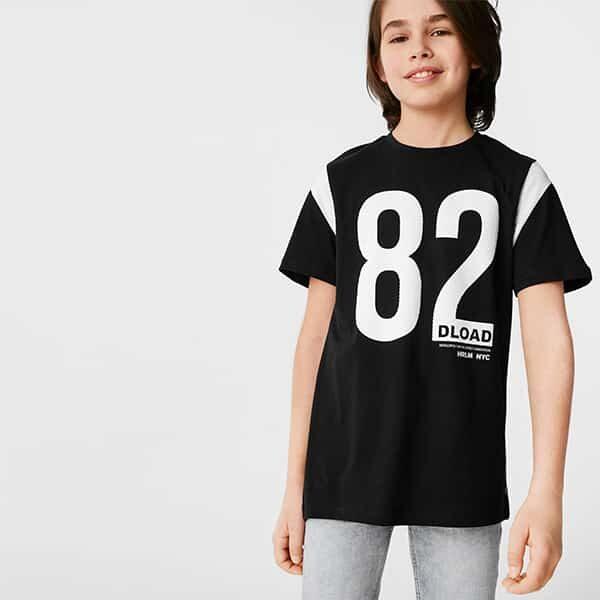 Kurzarmshirt Jungen schwarz 01 | Landanzeiger-Shopping