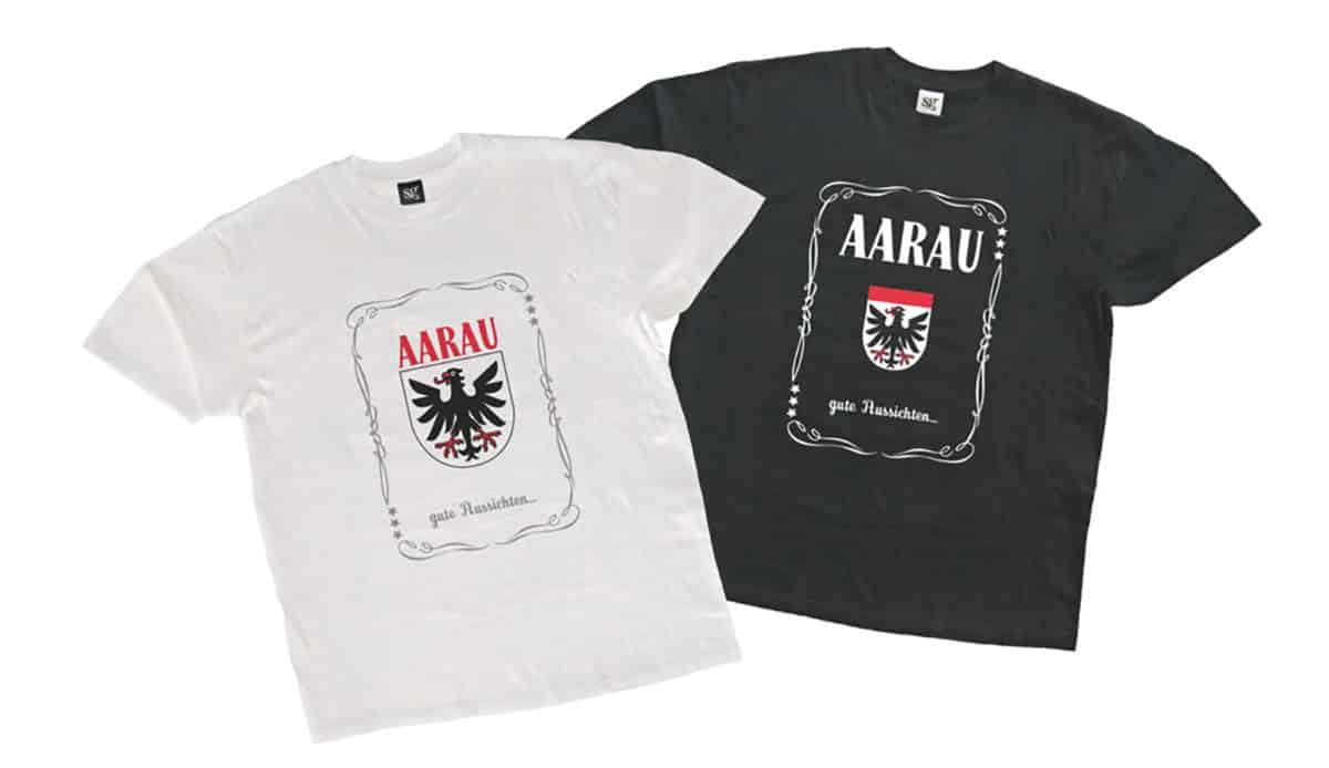 Aarau T-Shirt mit Wappen | Landaneziger-Shopping