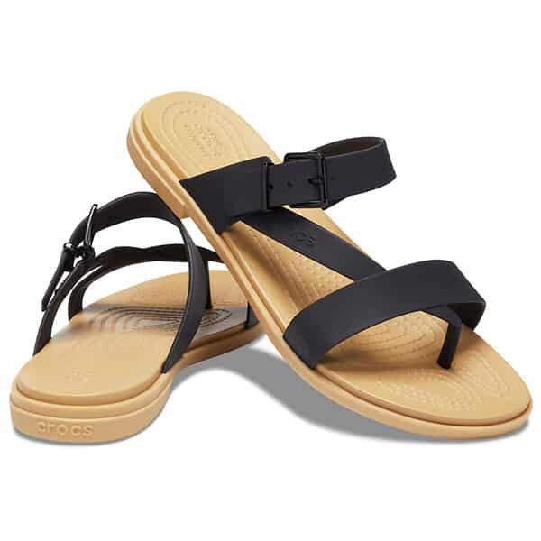 Crocs Tulum Toe Post Sandal black tan 01 |Landanzeiger-Shopping